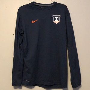 Nike Illinois Fighting Illini Dri-Fit Longsleeve